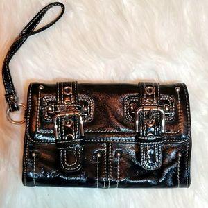 Rafe black wristlet clutch, wallet, bag